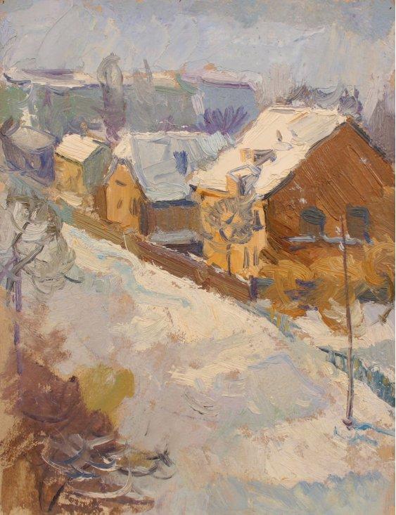 """""""Winter on the village street"""""""