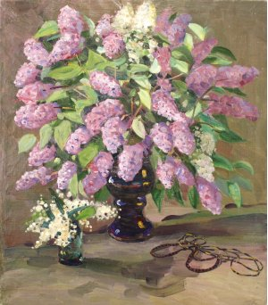 """Lilac and lilies of the valley"""