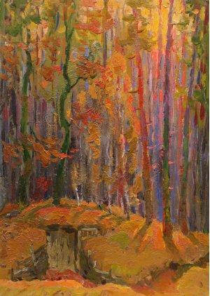 """""""Землянка в осінньому лісі"""""""
