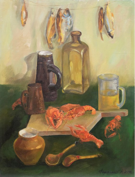 """Still life with crayfish"""