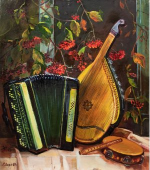 """""""Still life with musical instruments"""""""