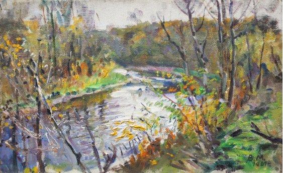 """Река в лесу"""