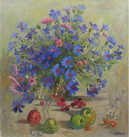 """Still life ""Cornflowers"""