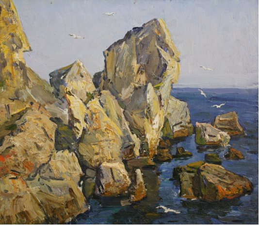 """Rocks by the sea"""