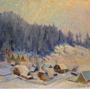 """""""Winter in the mountain village"""""""