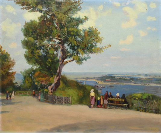 """""""View of the Dnieper river"""""""