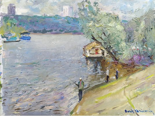 """Fishermen on the banks of the Dnieper"""