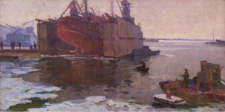 """""""Floating dock. Klaipeda Shipyard"""""""