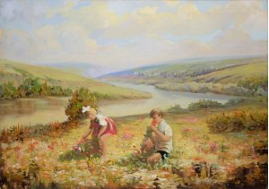 """""""Children collect wildflowers"""""""