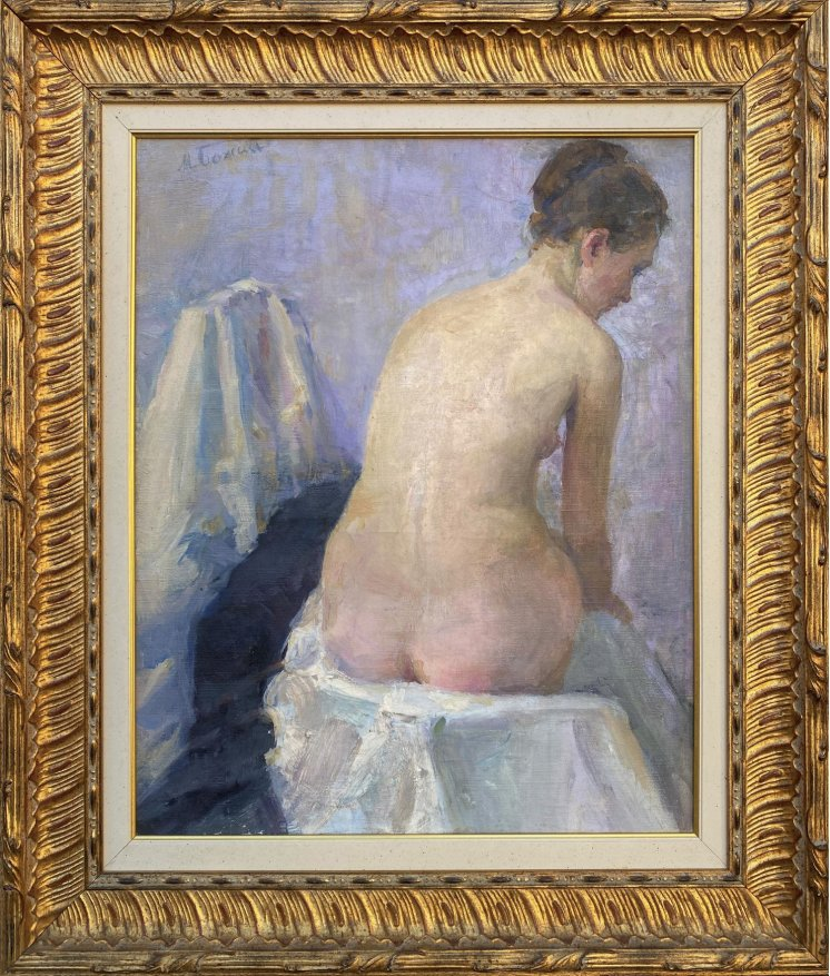 """Nude on a chair"""