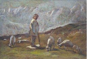 """""""A shepherd is grazing a flock"""""""