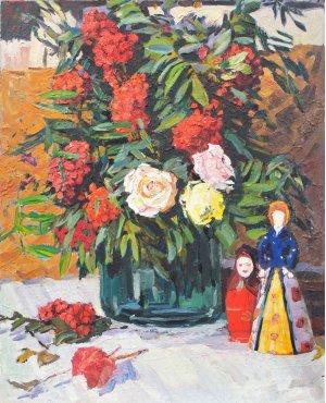 """""""Roses and viburnum"""""""