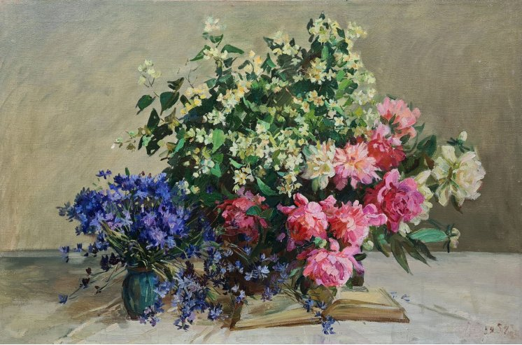 """""""Flowers with a book"""""""