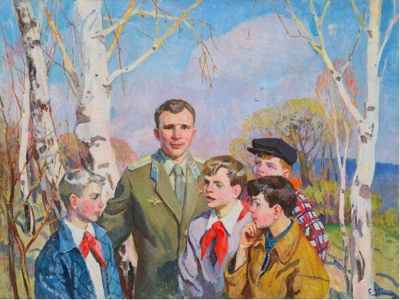 """""""Gagarin with children"""""""