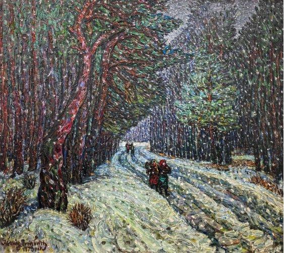 """Winter. Pine forest"""