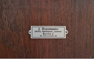 Німецький підлоговий годинник J. Brandmann, на три гирі з четвертним боєм