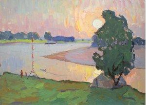 """""""Захід сонця на річці"""""""